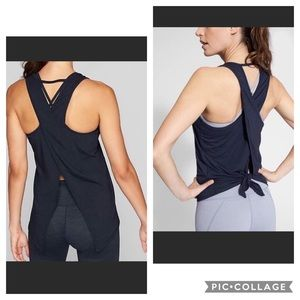 Athleta Essence Tie Back Tank - Black